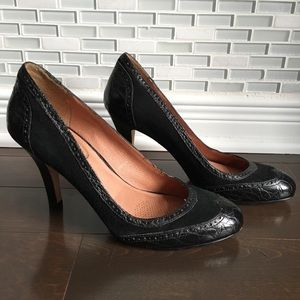 Corso Como suede heels with leather detail size6.5